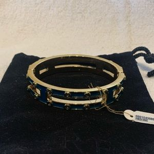 J Crew Enamel Bangle with some Crystals • NWT